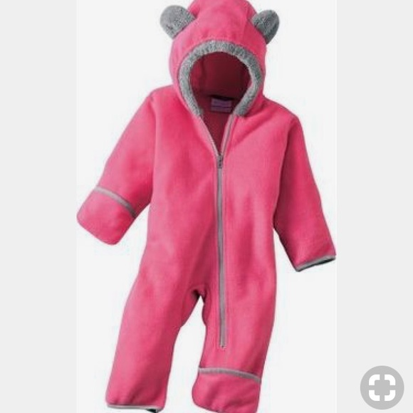 8e044a8ca Columbia One Pieces | Pink Infant Bear Fleece Bunting 12 M | Poshmark